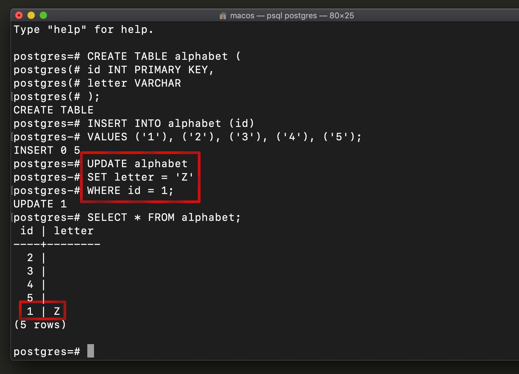 PostgreSQL UPDATE for ObjectRocket example using update query in PostgreSQL