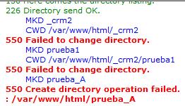 550 Create Directory Operation Failed Vsftpd Centos 7 Para Solucionar El Error Ejecutar Comando En La Terminal